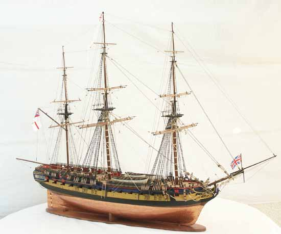 Historic ship models - frigate DIANA of 1794